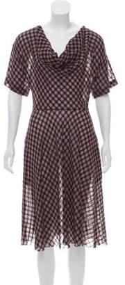 Diane von Furstenberg Checkered Midi Dress