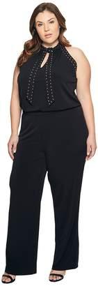 MICHAEL Michael Kors Size Solid Stud Tie Jumpsuit Women's Jumpsuit & Rompers One Piece