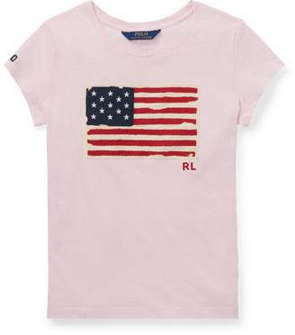 Ralph Lauren Flag Cotton Jersey T-Shirt