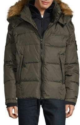 S13/Nyc Faux Fur Trimmed Quilted Down Jacket