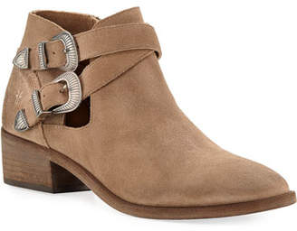 Frye Ray Western Suede Ankle Booties