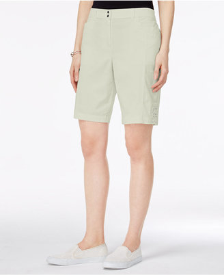 Karen Scott Tie-Hem Shorts, Created for Macy's $39.50 thestylecure.com