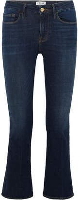 Frame Le Crop Mini Mid-rise Bootcut Jeans - Mid denim