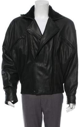 Gianni Versace Vintage Leather Moto Jacket