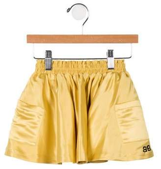 Bandy Button Girls' Satin Circle Skirt w/ Tags