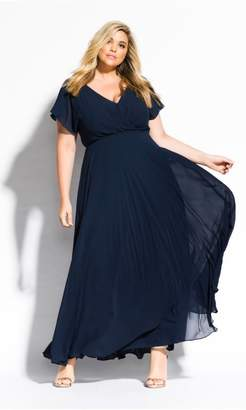 City Chic Sweet Wishes Maxi Dress - navy