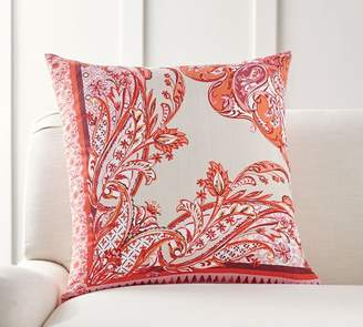 Pottery Barn Olympia Paisley Printed Pillow Cover