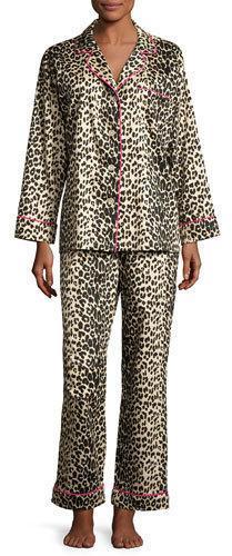 BedHeadBedhead Leopard-Print Sateen Pajamas, Plus Size