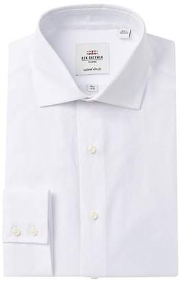 Ben Sherman Tonal Jacquard Tailored Slim Fit Dress Shirt