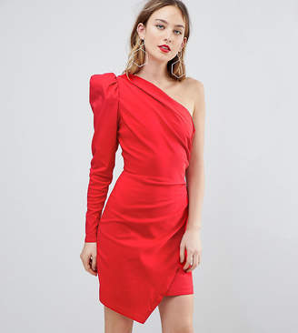 Asos Tall Tall ULTIMATE One Shoulder Structured Mini Dress