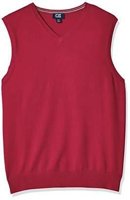 Cutter & Buck Men's Cotton-Rich Lakemont Anti-Pilling V-Neck Sweater Vest