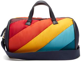 Anya Hindmarch Chubby Barrel quilted-stripe travel bag