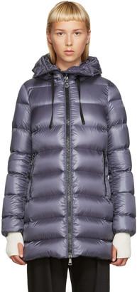 Moncler Grey Down Suyen Coat $1,190 thestylecure.com