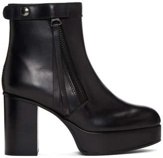 Acne Studios Black Platform Ankle Boots