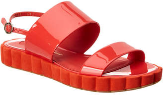 Salvatore Ferragamo Lusia Two-Banded Patent Platform Sandal