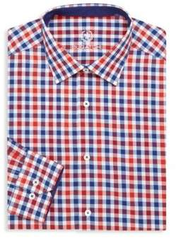 Bugatchi Cotton Check Dress Shirt