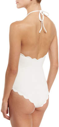 Marysia Swim Mott Scalloped Halter Maillot
