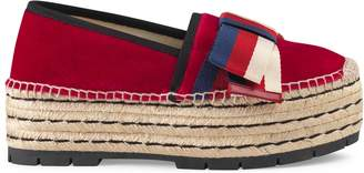 Gucci Velvet espadrille with Sylvie bow
