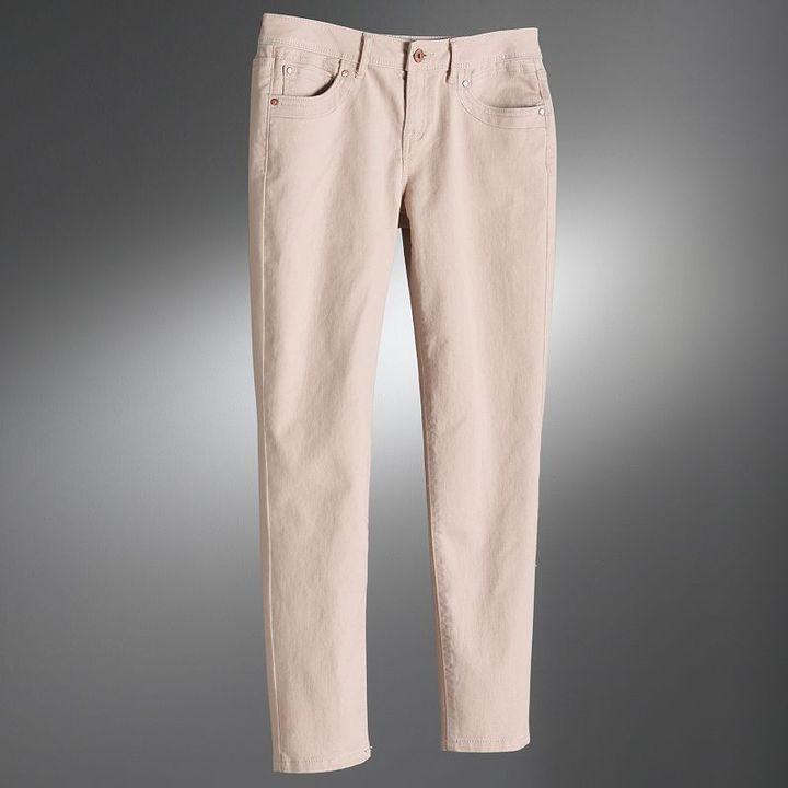Simply vera vera wang skinny ankle jeans