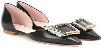 Roger Vivier Wings leather ballet flats