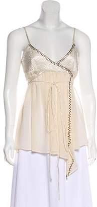 Barbara Bui Embellished Silk Top w/ Tags