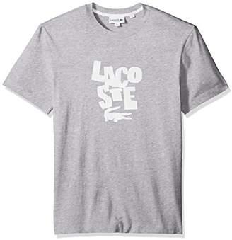 Lacoste Men's Short Sleeve Graphic Jersey Print Reg Fit T-Shirt