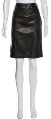 Ralph Lauren Leather Pencil Skirt