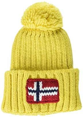 Napapijri Men's Semiury Hat Beanie, (Bright White 002), One (Size: D)