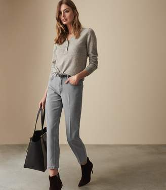Reiss BLAKE MID RISE CROPPED JEANS Grey Wash