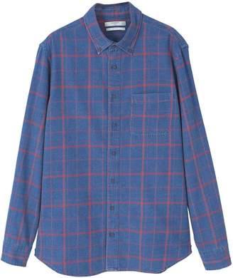 MANGO Men's Check Chambray Shirt