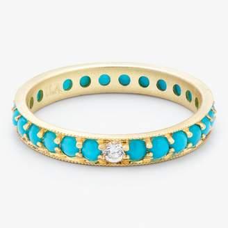 Ila Turquoise & Diamond Dunbar Band Ring