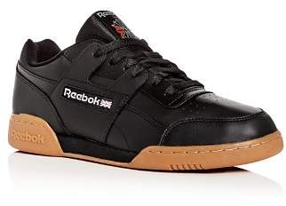 Reebok Men's Workout Plus Leather Low-Top Sneakers
