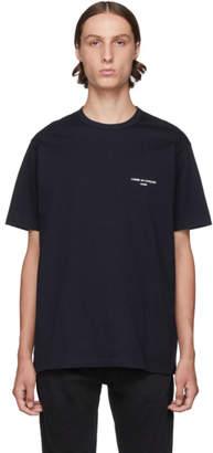 Comme des Garcons Homme Navy Jersey Logo T-Shirt