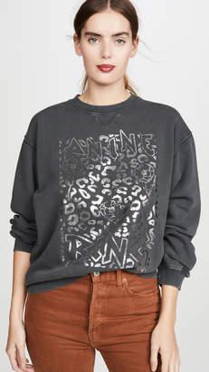 Anine Bing Ramona Panther Sweatshirt