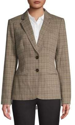 Tommy Hilfiger Two-Button Plaid Jacket