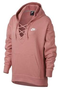 Nike Club Lace-Up French Terry Hoodie