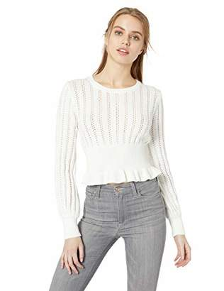 The Fifth Label Women's Galaxies Soft Knit Peplum Lightweight Sweater