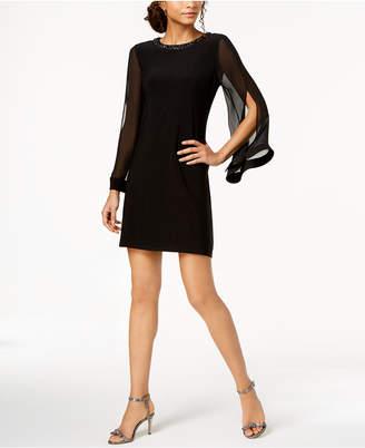 MSK Split-Sleeve Shift Dress