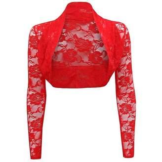 Roland Mouret Fashions Wmen's Long Sleeve Lace Shrug Bolero Cardigan