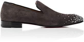 Christian Louboutin Men's Dandelion Degra Flat Suede Venetian Loafers