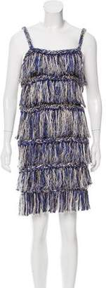 Opening Ceremony Sleeveless Fringe Dress