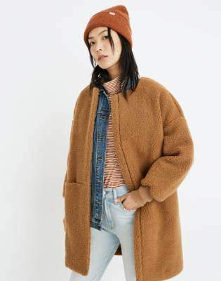 Bonded Sherpa Cocoon Coat