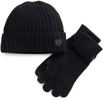 c385ea327dd Chaps Men s Ribbed Knit Hat   Tech Touch Glove ...