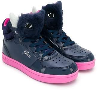 Geox Kids fury tongue hi-top sneakers