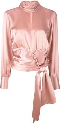 Cinq à Sept wrap waist blouse