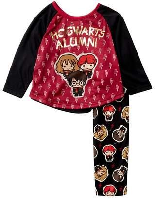 AME Harry Potter Hogwarts Alumni Raglan Pajama Set (Little Girls & Big Girls)
