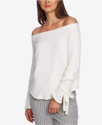 1 STATE 1.state Cozy Off-The-Shoulder Tie-Sleeve Top