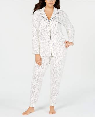 Alfani Plus Size Notch Neck Pajama Set