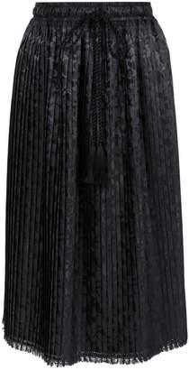 À La Garçonne pleated jacquard skirt