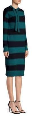 Marc Jacobs Tie-Neck Stripe Dress